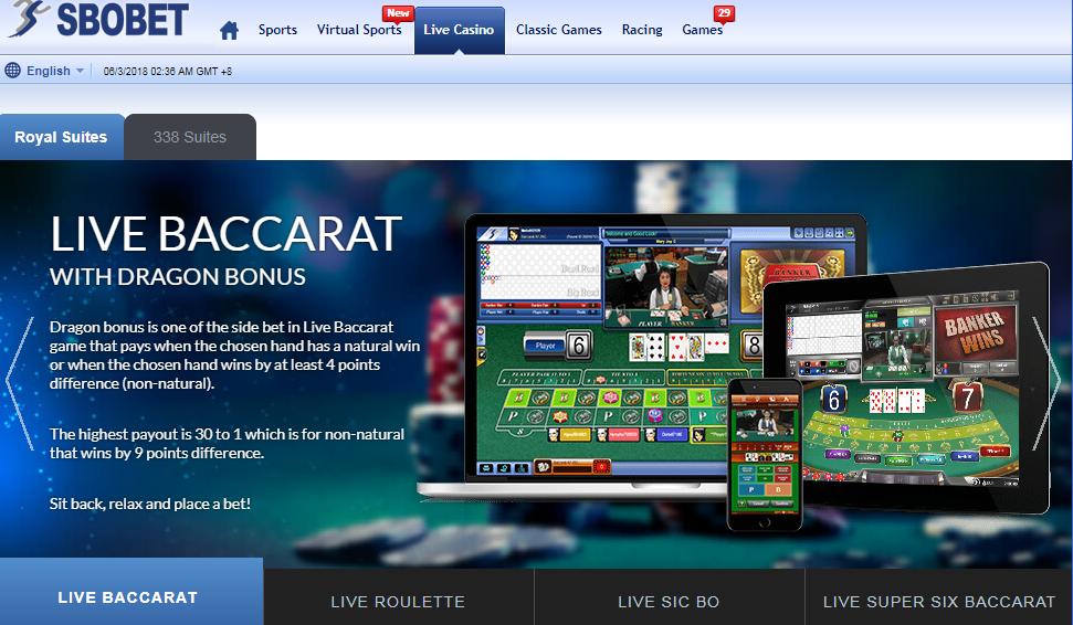 Permainan Live Bacarrat