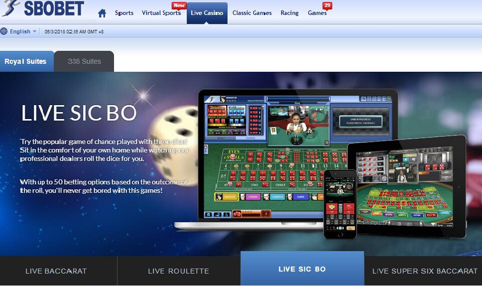 Permainan Live Sicbo