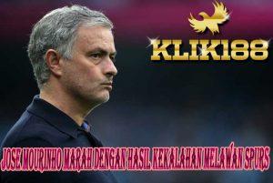 Jose Mourinho Marah Dengan Hasil Kekalahan Melawan Spurs
